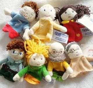 嬰幼兒玩具 一家人手指偶 角色扮演親子遊戲 講故事 小玩偶 7個