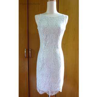 Vintage Jessica McClintock Lace Dress, US Size S / 4 / 6