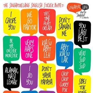 (Limited Stocks left!) SINGLISH Sticker Buffet - Catchy Slogans!