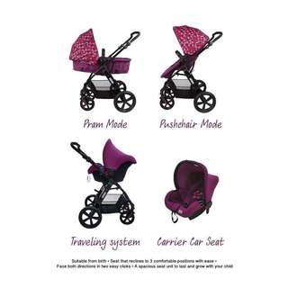 Sweet Cherry Travel System Stroller GL500