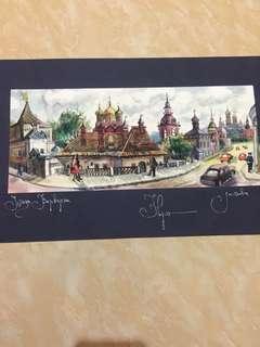 Lukisan rusia ,kalau plus pigura tambah 50k