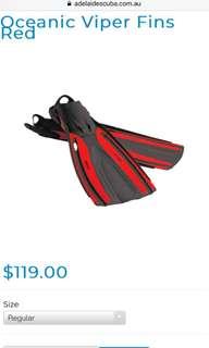 Red Oceanic Viper Fins