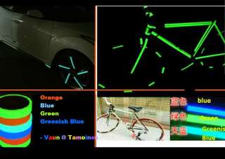 3 Colors Glow Tape Luminous Photoluminescent Stage Home Decoration marking glow in the dark Tape bike Bicycle Scooter Toy Gadget