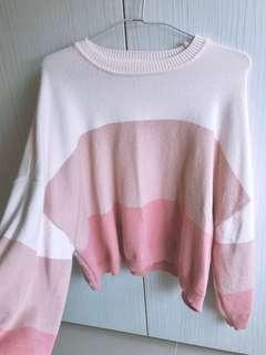 🚚 粉色長袖毛衣