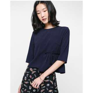 Love Bonito Oleta Asymmetrical Pleated Layer Top
