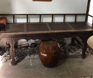 Chinese antique wooden bench