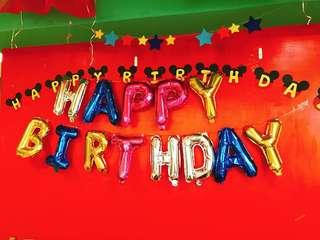 🚚 (二手)生日派對氣球