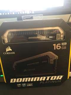 Corsair dominator platinum series 16GB(2×8GB) DDR4 DRAM 3200MHz C16 Memory