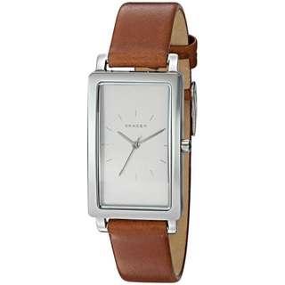 Skagen Rectangular Watch Tan