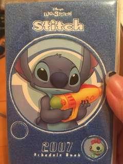 絕版Stitch 史迪仔schedule