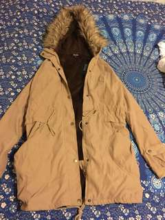 Bnwt Brown/tan fur parka jacket for sale size S