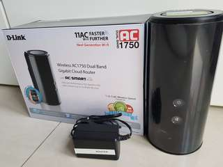 D Link DIR-868L AC1750 DualBand Wireless Router