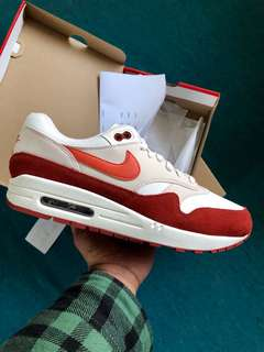 """NIKE Air Max 1 """"Mars Stone/Coral"""" SIZE 9 DS"""