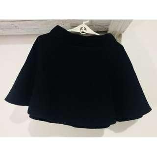 H&M Black Skater Skirt with zipper