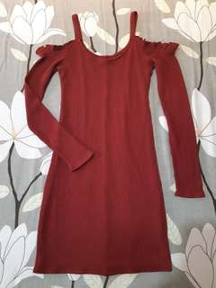 Hollister Cozy Cold Shoulder Dress Original