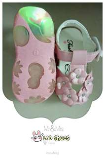 New Baby Shoes LED pinky shoes