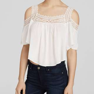 Eyelet/embroidered top