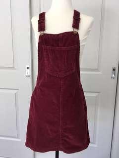 Maroon Overall Dress