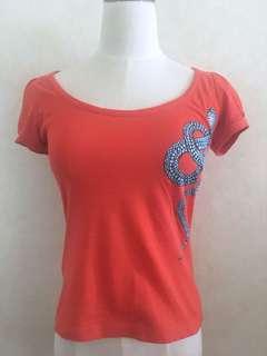 Just Cavalli bead snake t-shirt