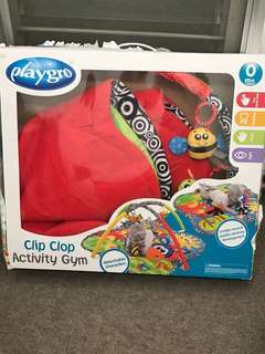 Playgro clip clop activity gym (like new)