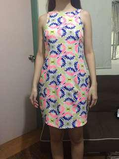 Sale! Colorful corporate dress small