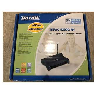 Billion BiPAC 5200G R4 802.11g ADSL+ Firewall Router