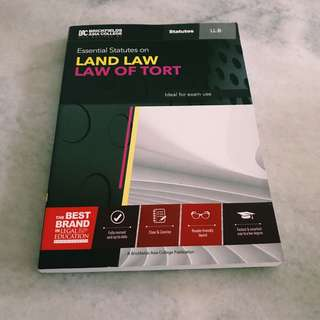 Land Law / Law of Tort Statute Book