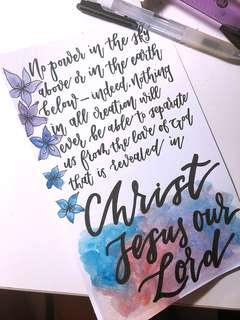 Christian Calligraphy Card 🌿💕