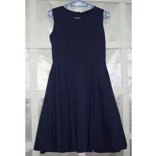 Navy Blue Vintage-Cut Dress