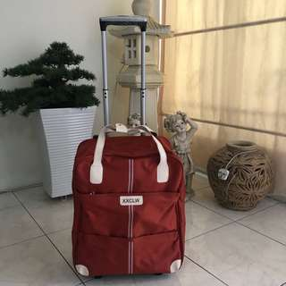 NEW> Red Cabin size luggage bag