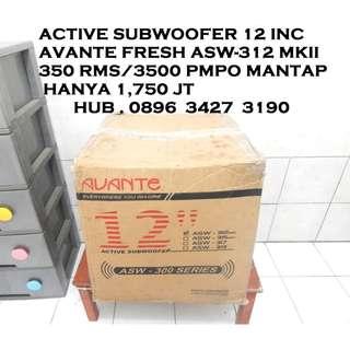 "Active Subwofer 12"" Fresh Dentuman Dahsyat Mantap KATAPANG SOREANG"