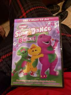 Sing & Dance with Barney DVD + CD Set