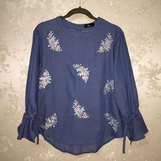 Embroidery Top Blouse