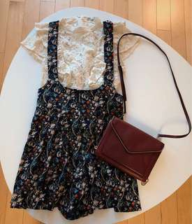 F21 romper outfit (with/without Rebecca Minkoff bag)