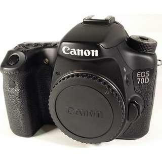 Canon EOS 70D  盒裝  背帶 充電器 線材 光碟 說明書 鋰電池*1 公 (CB079)