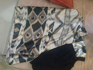 Bokitta Fading Batik viola maxi Satin