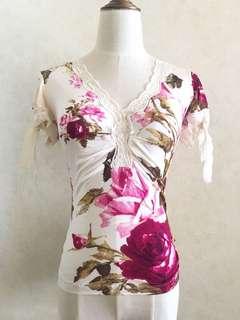 Roberto Cavalli floral top