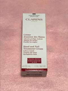Clarins hand and nail treatment cream (travel size 30 ml)