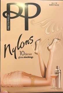 [英國製造]PP 黑色10針stockings Pretty Polly