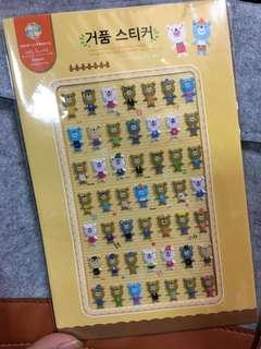🚚 【全館物件🔥買300送100、買500送300🔥】韓風可愛bear熊熊泡棉貼❤️