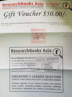 RsearchBooks Asia Gift Vouchers $200