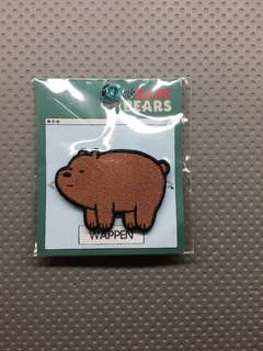 🚚 We Bare Bear embroidered pin