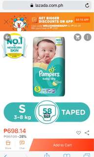 Pampers Dry Small