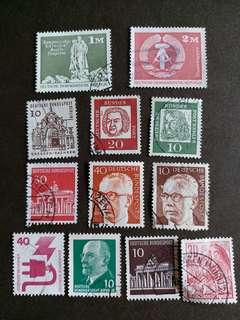 德國已銷郵票