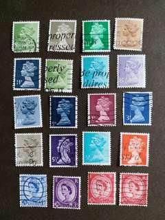 英女皇像已銷郵票