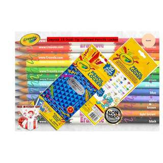 Crayola 15 Dual Tip Colored Pencils Locker