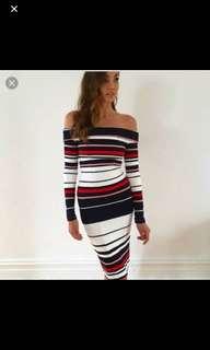 Kookai striped ponte dress