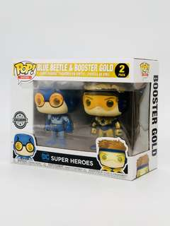 Funko Pop Dc : Blue Beetle and Booster Gold Metallic