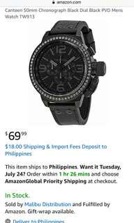 Original TW Steel watch not Technomarine Michael kors Kate Spade Phillip stein