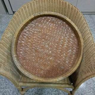 Rattan Crane Chair With Rattan Round Table